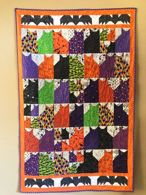 Cats and Bats halloween quilt
