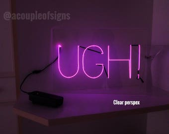 "The 1975 - 'UGH!' Neon-like sign ILIWYS Promo style (8.3""×11.8"")"