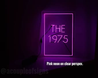 """The 1975 - 'The 1975' Neon-like sign (8.3""""×11.8"""")"""