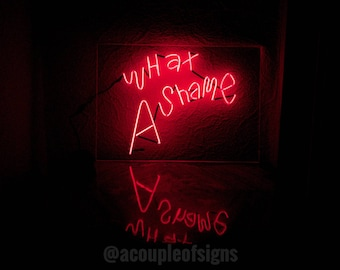 """The 1975 - 'What A Shame' Red neon-like sign (8.3""""×11.8"""")"""
