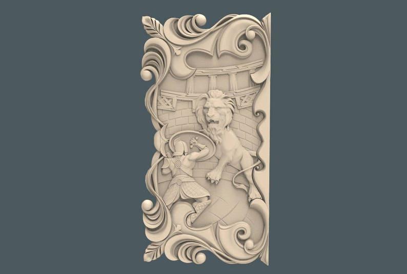 Stl 2 5d 3d vectric aspire cut3d artcam model of clock for cnc carving