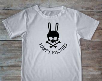 Easter shirt, easter shirt adult, easter bunny shirt, bunny shirt, bunny skull, adult easter gift, skull shirt, easter basket gift