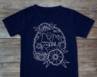 Somewhere familiar shirt, melancholic shirt, tattoo shirt, classic tattoo art, old school shirt, hipster gift, gift for tattoo lovers