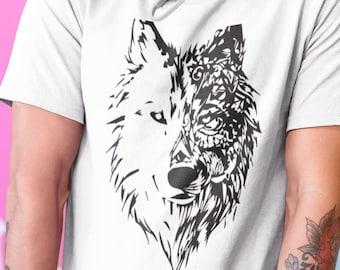 Geometric Wolf Wolf Sweater Wolf Head Sweater Wolf Head Etsy