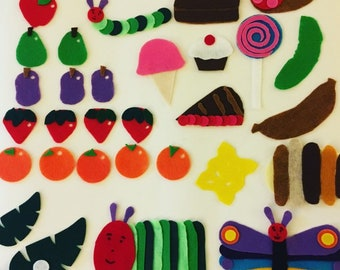 The Very Hungry Caterpillar - Children's Felt / Flannel Story for Early Childhood Education