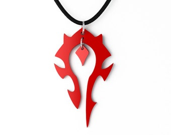 World of Warcraft Horde Pendant, Key Chain or Earrings