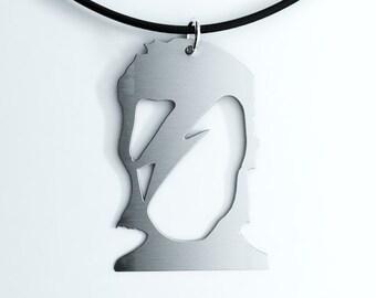 David Bowie Aladdin Sane Pendant, Key Chain or Earrings