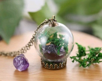 Crystal Terrarium Necklace