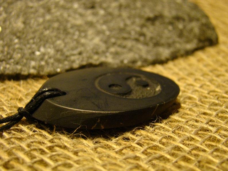 Shungite pendant Yin-Yang from Karelia Exclusive mascot aura.