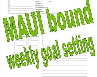 MAUI Weekly Goal Setting