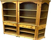 BROYHILL Pine Bookcase Entertainment Hutch China Cabinet Wall Unit Cupboard