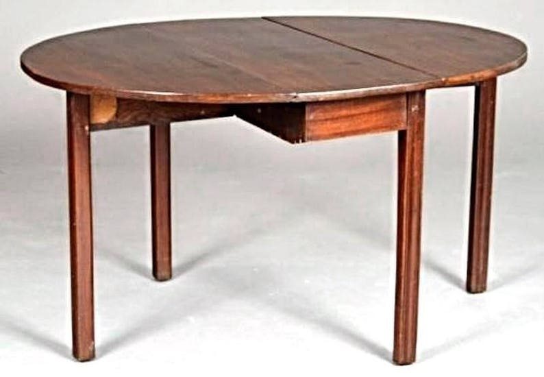 Rare 18th C English Chippendale Mahogany Drop Leaf Table Console End Antique