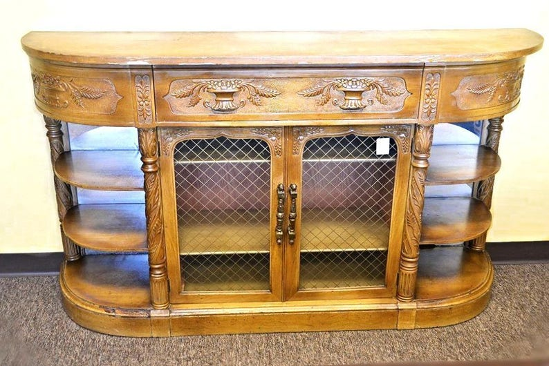 Credenza Definition In English : Carved antique english credenza buffet cabinet sideboard etsy