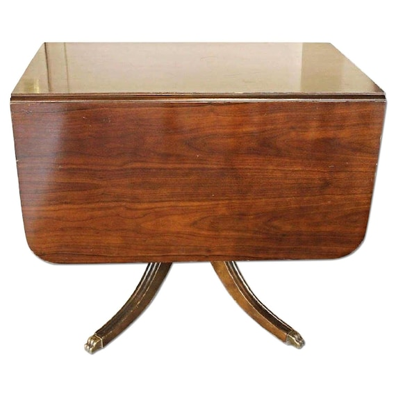 Fine Mahogany Drop Leaf Claw Foot Table Dining Console