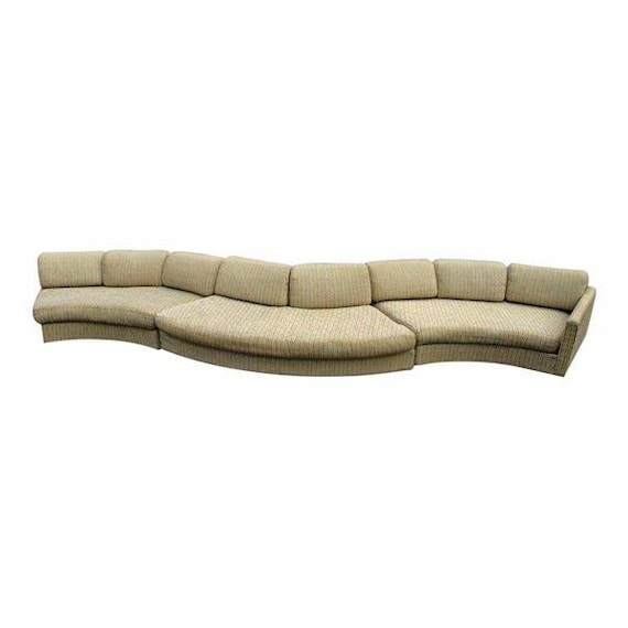 Fine 190L Milo Baughman Craft Assoc Sectional Sofa Couch Loveseat Settee Mid Century Cjindustries Chair Design For Home Cjindustriesco