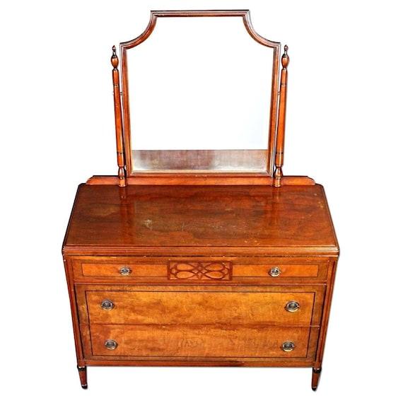 Rare Stiehl Furniture Art Deco Dresser Mirror Vanity Commode Etsy