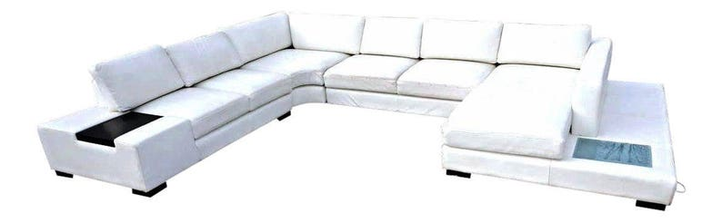 Cool White Leather Sectional Sofa Loveseat Settee Couch Chaise Mid Century Modern Ncnpc Chair Design For Home Ncnpcorg
