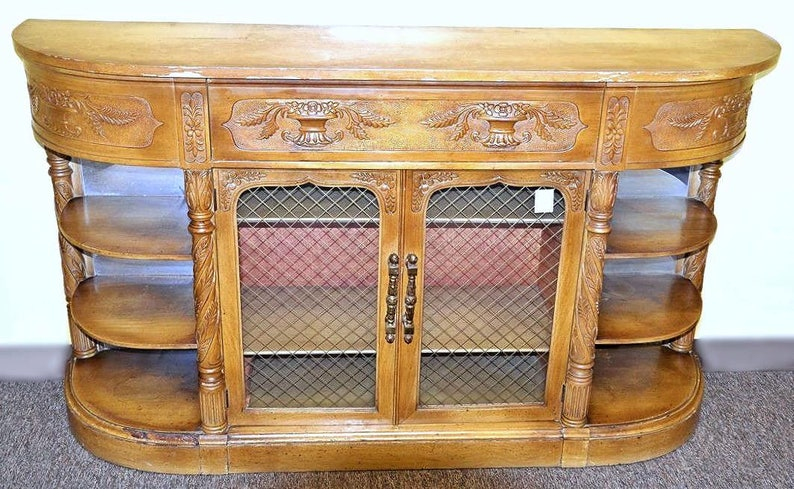 Credenza Definition In Art : Carved antique english credenza buffet cabinet sideboard server
