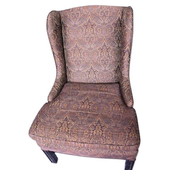Groovy Purple Paisley Lounge Child Wing Armchair Side Sofa Loveseat Settee Vintage Alphanode Cool Chair Designs And Ideas Alphanodeonline