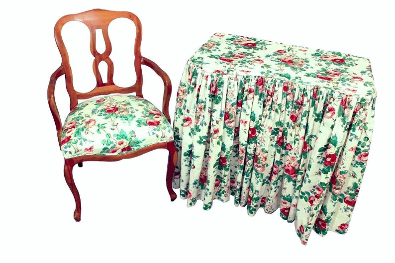 Cool Rare Antique 1920S Stickley Era Langslow Vanity Table Chair Side Bedroom Set Gamerscity Chair Design For Home Gamerscityorg