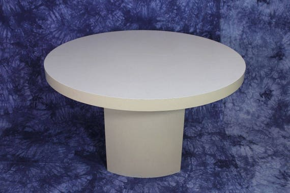 Mid Century Modern Round Formica Top Dining Table Side End Etsy
