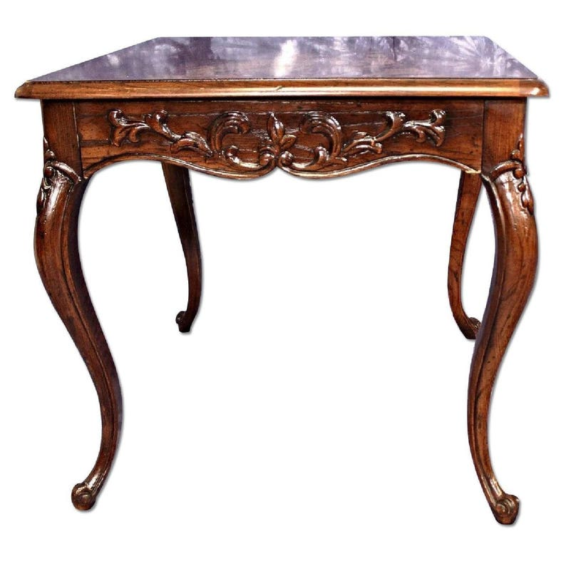 Beau HENREDON French Provincial Carved End Side Lamp Coffee Table Dining  Nightstand