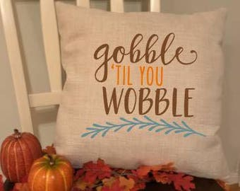 Decorative throw pillow cover ~ Thanksgiving decoration