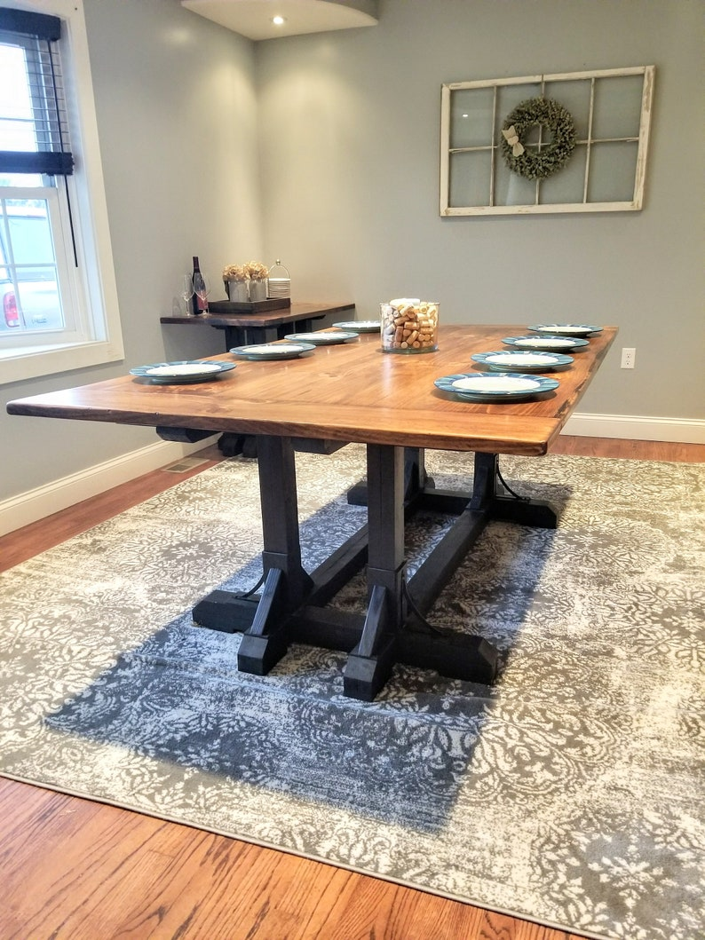 Farmhouse Table With Extender Buffet