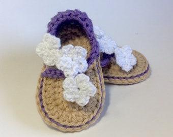ca64c7f387064 Crochet baby sandals | Etsy