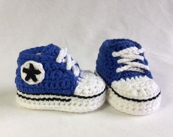 Baby Converse Gehäkelte Babyschuhe Häkeln Sneakers Etsy