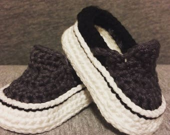 Crochet Baby Shoes - Crochet Vans - Crochet Baby Vans - Baby Vans - Crochet  Baby Sneakers - Baby Gift e231650d1