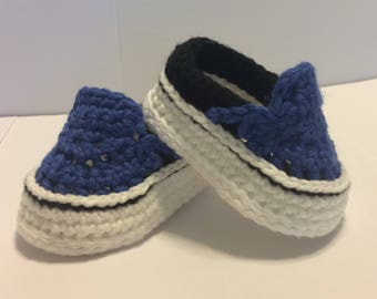 Crocheted Vans Style Baby Shoes - Crochet Baby Shoes - Crochet Vans - Baby  Vans - Crochet Sneakers - Baby Shower Gift f77f0826e