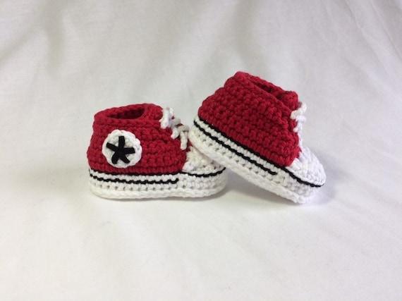 Häkeln Baby Converse Baby Converse Schuhe Baby Chucks Etsy