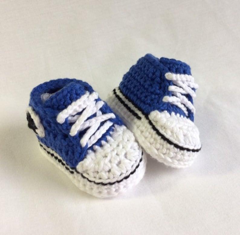 c7e382ddf40 Crochet Baby Converse Crochet Converse Crochet Chucks | Etsy