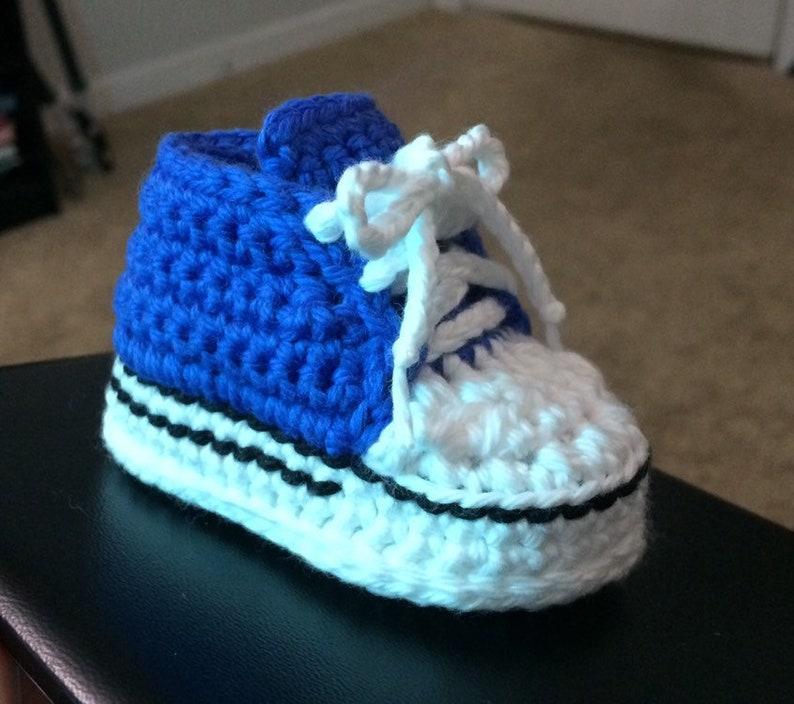 Crochet Baby Converse Crochet Baby Sneakers Converse Etsy