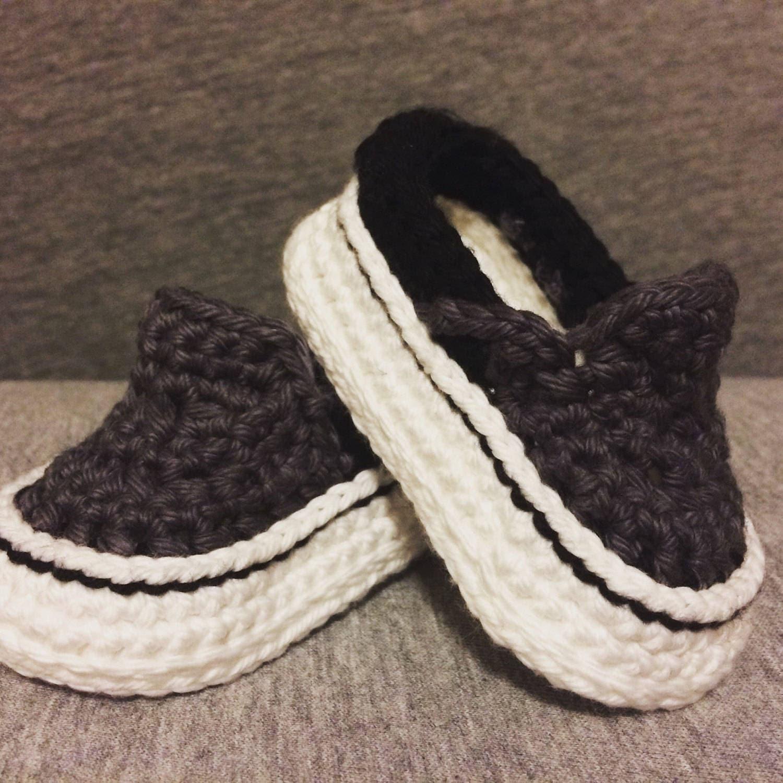 e9c0a0460f6e2e Crochet Baby Shoes - Crochet Vans - Crochet Baby Vans - Baby Vans - Crochet Baby  Sneakers - Baby Gift