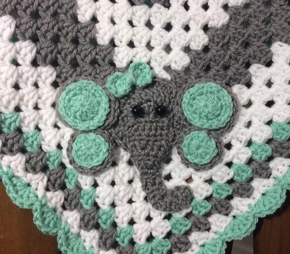 Crochet Elephant Blanket Crochet Baby Blanket Baby Etsy