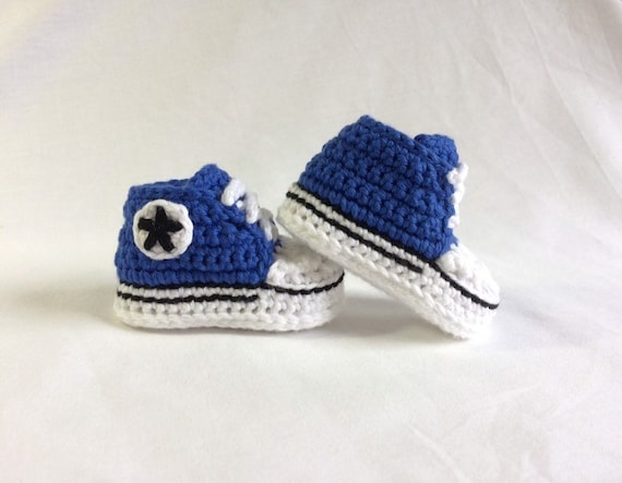 Crochet PATTERN Converse, all star, baby sneakers, baby booties, baby shoes
