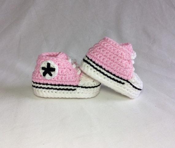 offizieller Shop erstklassig üppiges Design Häkeln Baby Converse - häkeln Baby Schuhe - Baby-Chucks - häkeln Baby  Sneakers - Baby-Geschenk
