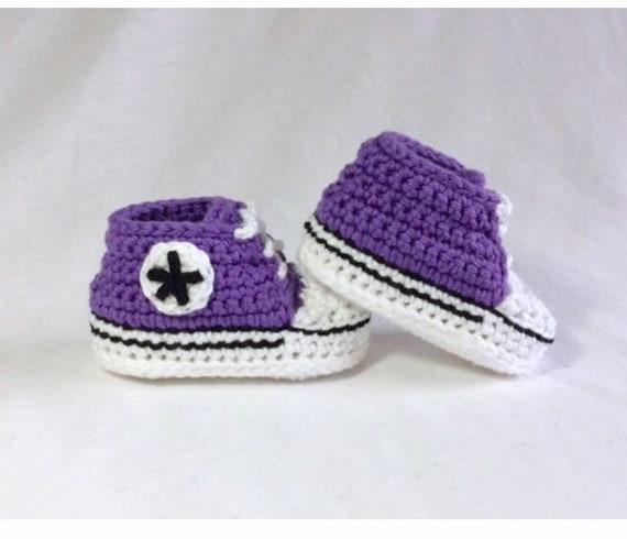 Gehaakte Baby Converse gehaakte Baby schoenen Baby Chucks gehaakte Baby Sneakers Baby cadeau