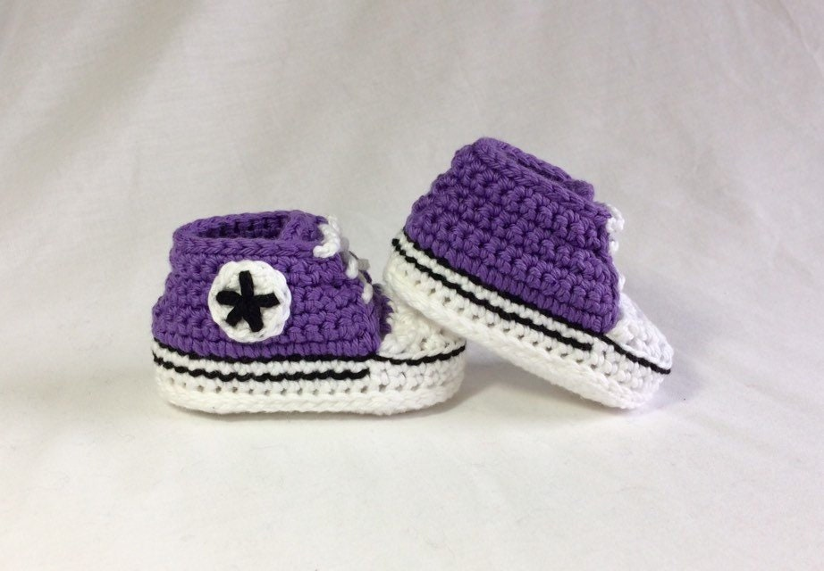 Crochet Baby Converse Baby Converse Shoes Baby Chucks Etsy