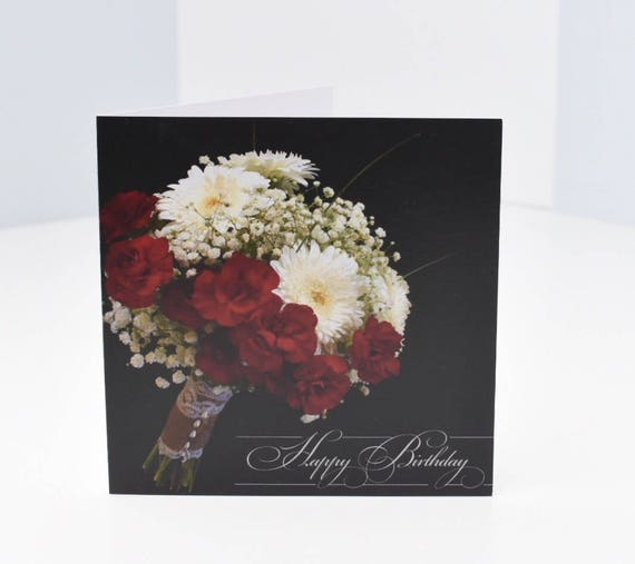Joyeux Anniversaire Fleur Bouquet Carte Heureux Idées Carte D Anniversaire Unique Pour Copain Copine Bestfriend Aventure Mignonnes Fleurs