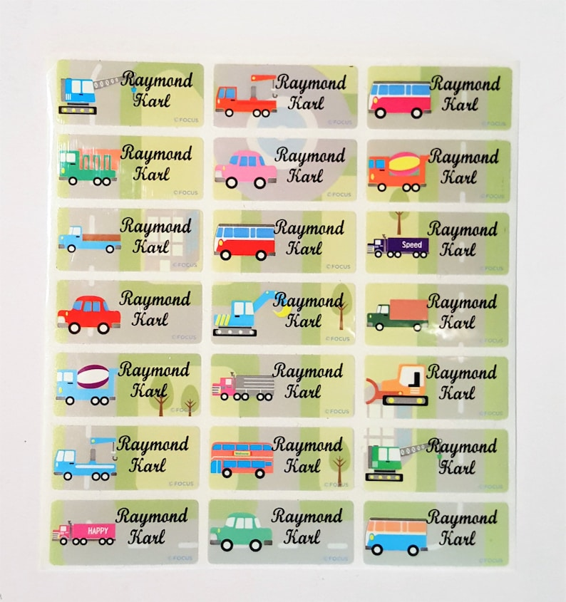 Cars Name Sticker Name Tag Name Label Car Waterproof Etsy
