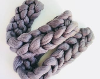 Chunky wool scarf,Merino Wool,Super chunky merino scarf,Chunky Wool Scarf,Arm Knitting,Super chunky Scarf,Gift for her,Big Scarf, Gray Scarf