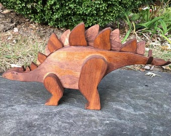 Wooded Stained Stegosaurus