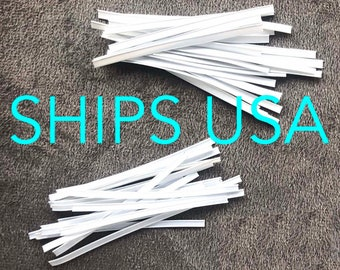 Nose Wire Strip for Face Mask, High Quality. Washable 3mm Single, or 4mm or 5mm Double Core Nose Bridge Wire. Ships FAST Same / Next Day USA