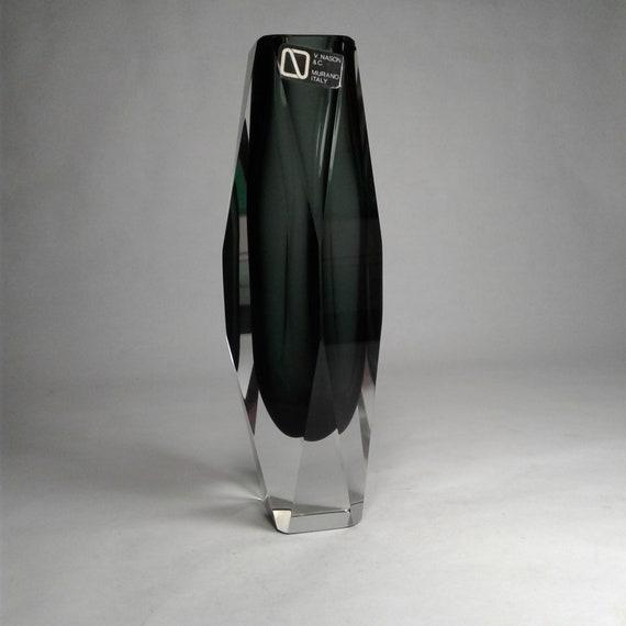 Vintage Murano Vase By Vencenzio Nason Made In Sommerso Style Etsy