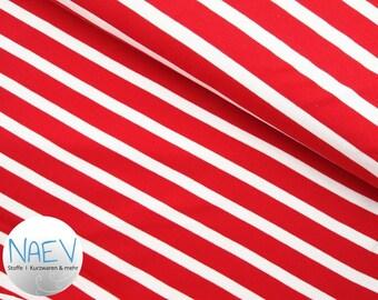Organic jersey Stripes Red/white C. Pauli