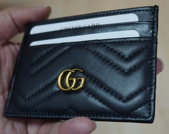 0e407a940961 Card Genuine leather card holder, Gucci card holder, Gucci Marmont card  holder, Gucci marmont, business card, mini wallet, GG wallet .