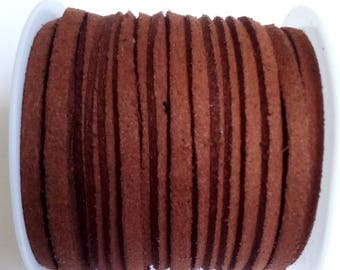 1 m Brown 3mm suede cord